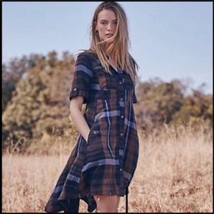 Anthropologie holding horses Lexington plaid dress